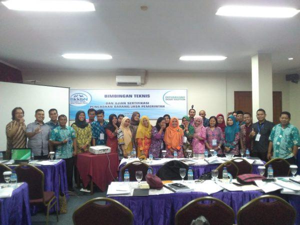 Bimtek dan Ujian Sertifikasi PBJ di Mataram